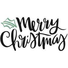 236x236 Merry Christmas Script Phrase Typography Merry