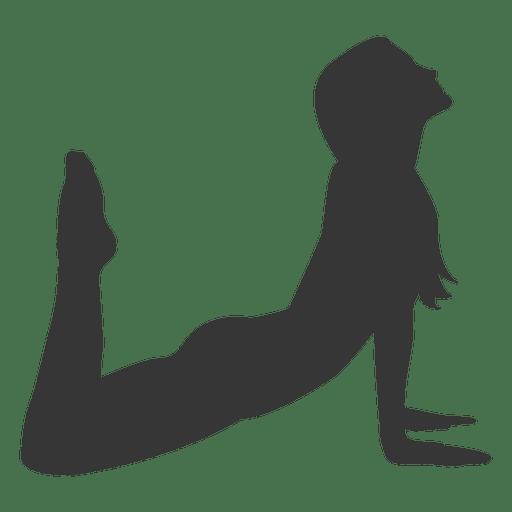 512x512 Girl Yoga Practice Silhouette In Gray