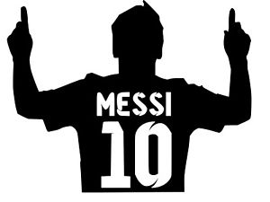 300x225 Messi ,fc Barcelona ,vinyl Decal,sticker For Cars,windows,laptops