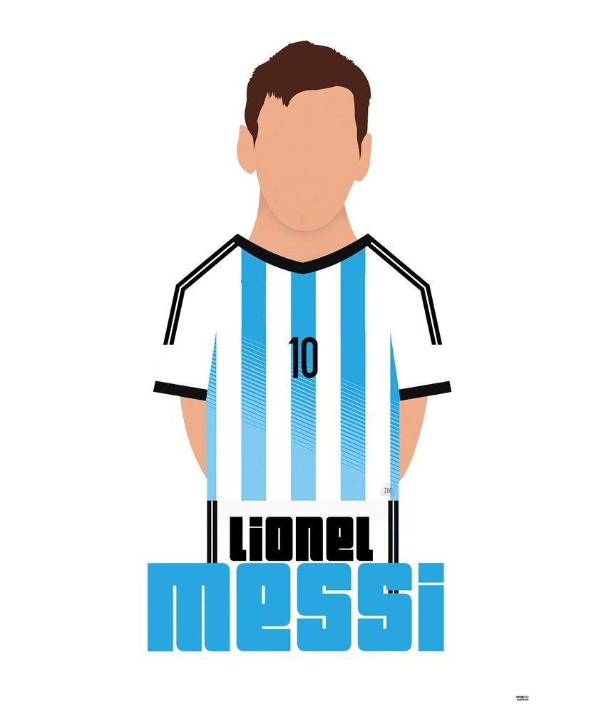 850x995 Bluegape Lionel Messi Silhouette T Shirt