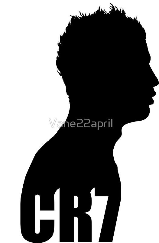 526x800 Cristiano Ronaldo Cr7 Silhouette Side (Black)