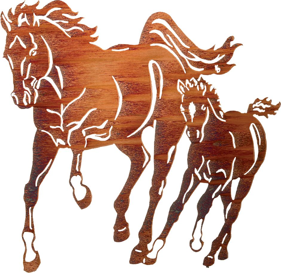 941x917 Horse And Colt Wall Art Metal Wall Art