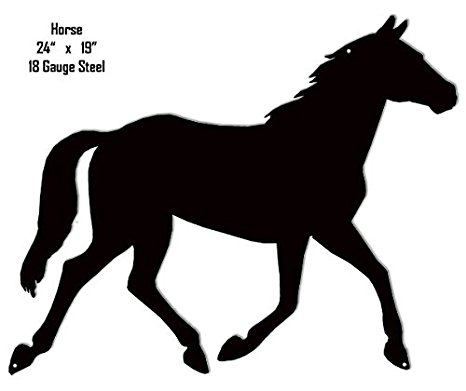 466x391 Galloping Horse Silhouette Laser Cut Out Metal Sign