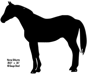 355x306 Horse Silhouette Laser Cut Out Metal Sign 24x28.5