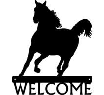 213x195 Beautiful Black Horse Welcome Sign