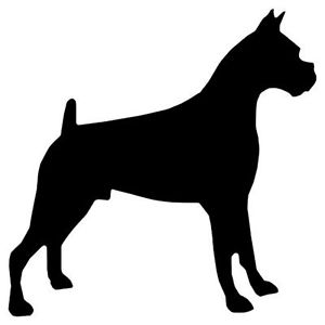 300x300 Boxer Dog Silhouette In Mild Steel, For Weathervanes Or Features