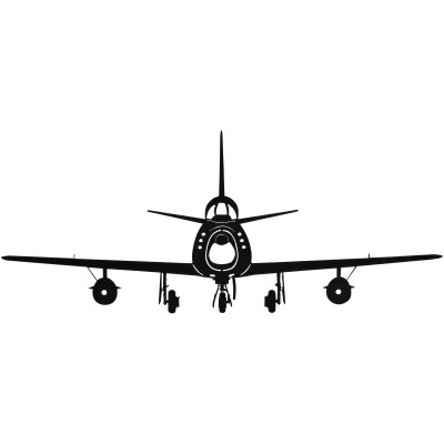 400x400 F86f Sabre Silhouette Aircraft Metal Sign Aviation Signs