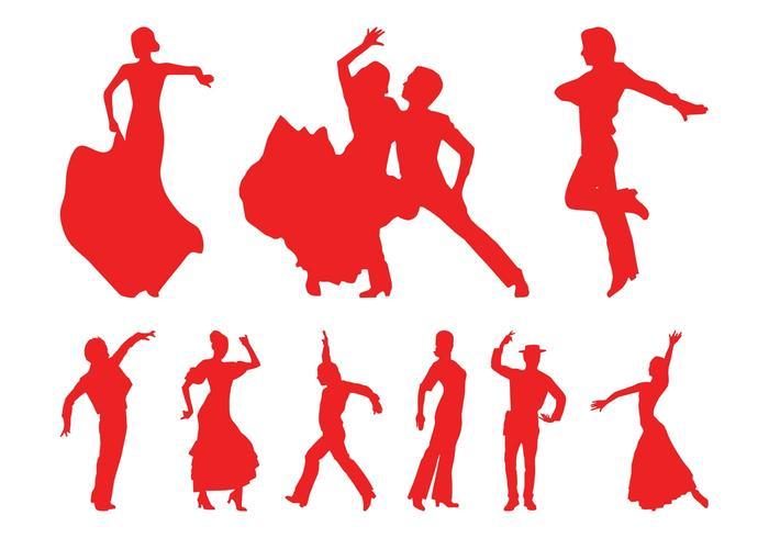 700x490 Flamenco Dancers Silhouettes