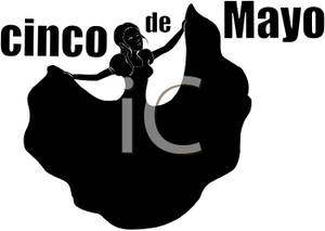 300x213 Black Silhouette Of A Woman Celebrating Cinco De Mayo