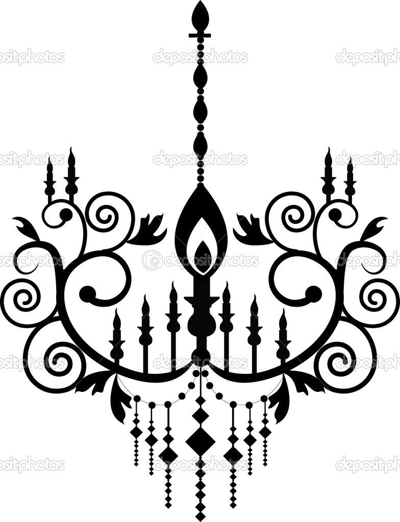 784x1023 Mexican Chandelier Silhouette