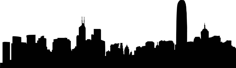1500x436 City Skyline Hong Kong Svg Clipart, International City Digital