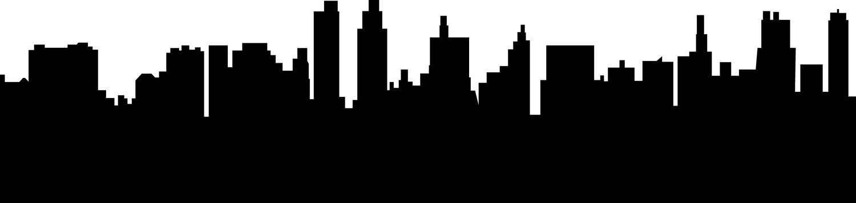 1500x356 City Skyline Buildings Svg Clipart, International City Digital