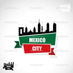 236x236 Mexico City Art Poster Mexico City Skyline Mexico City Wall