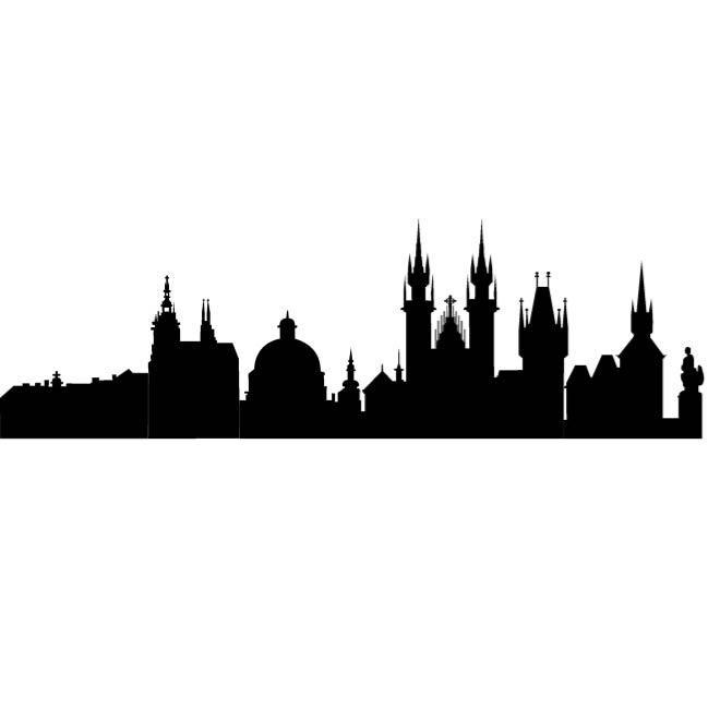 660x660 Prague City Silhouette