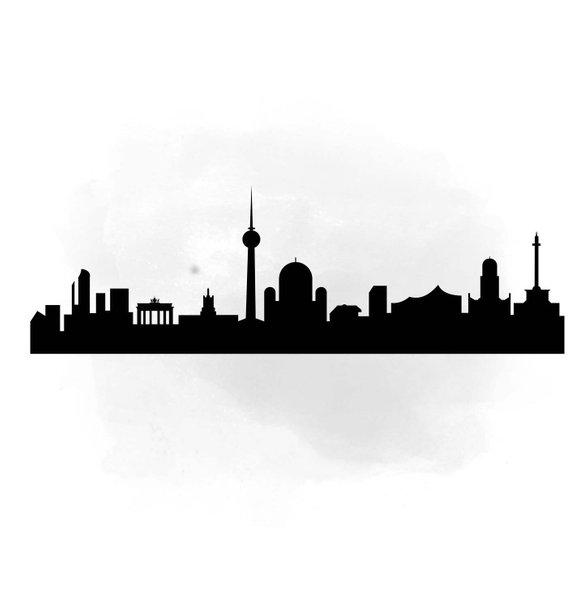 570x609 City Skyline Berlin Svg Clipart, International City Digital File