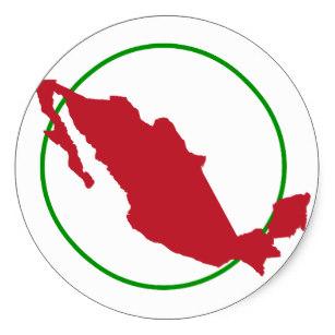 307x307 Mexico Map Stickers Zazzle
