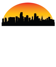 190x228 Sunset Skyline Silhouette Of Miami Fl By Awesome Shirts Spreadshirt