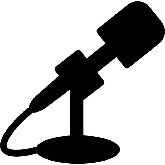 626x626 Microphone Black Side Silhouette Icons Free Download