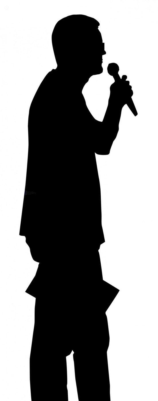 551x1397 Silhouette Man With Mic Man Standing Silhouett