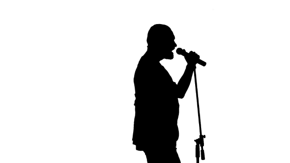 590x332 Black Silhouette Of A Microphone And Vigorously By Lovevision