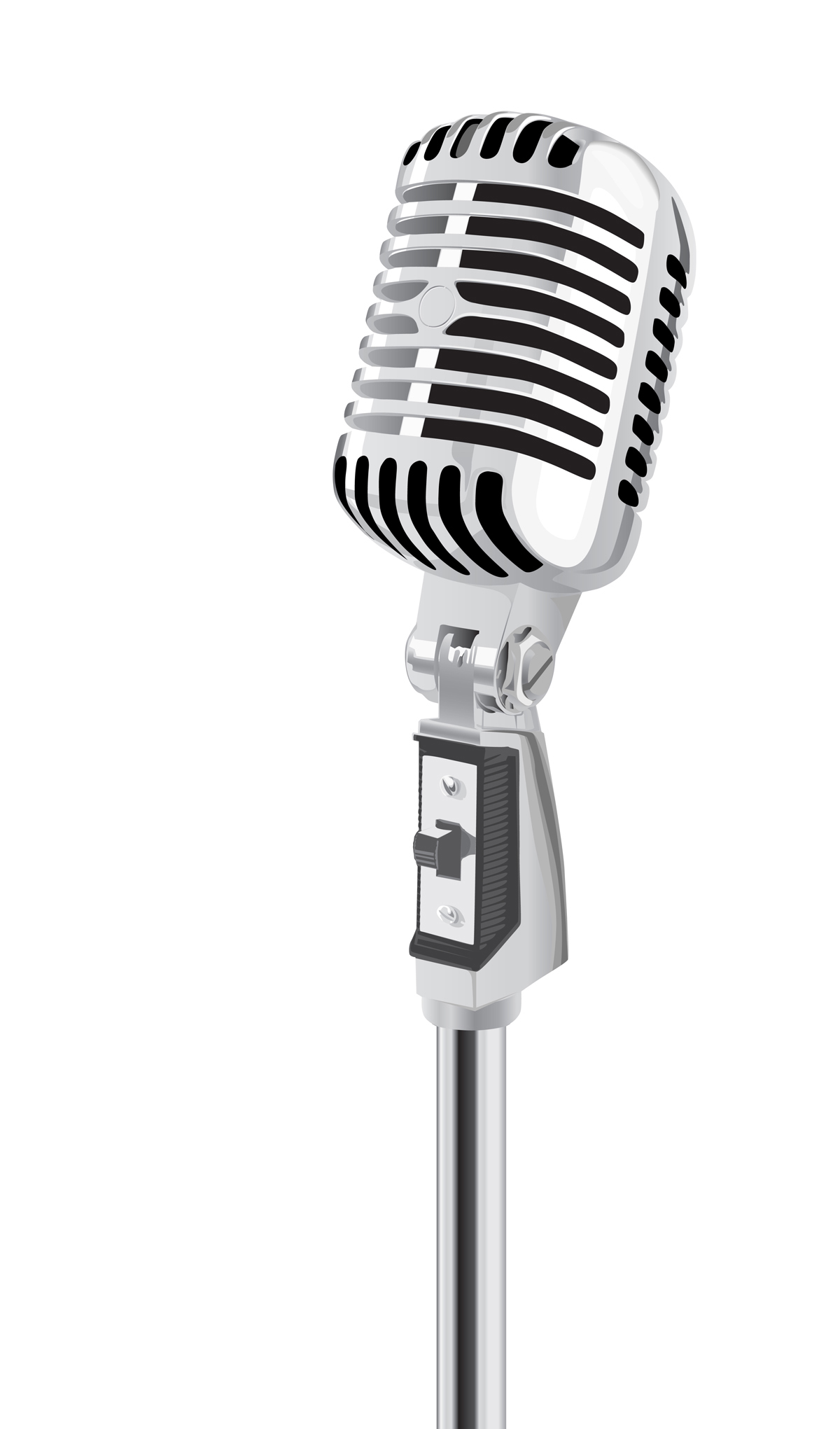 1200x2041 Drawn Microphone Silhouette Many Interesting Cliparts