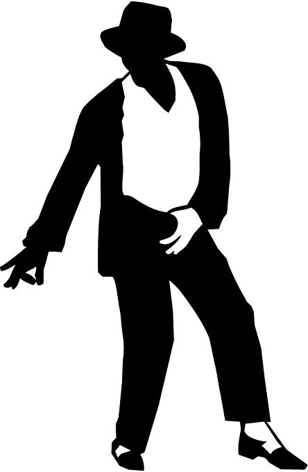444x679 Michael Jackson Dancing Life Vinyl Art Wall Sticker