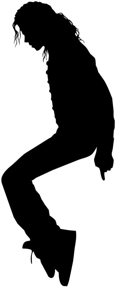 403x1000 Michael Jackson Silhouette Car Decal Window Sticker