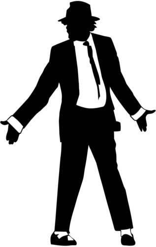 317x500 Michael Jackson Silhouette Decal Window Sticker Die Cut Bumper