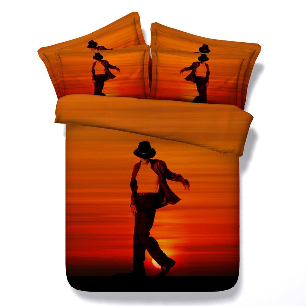 1000x1000 Michael Jackson Style Silhouette 3d Bed Set