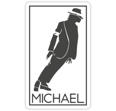 375x360 Silhouette Of The King Of Pop Michael Jackson Stickers By Tyto