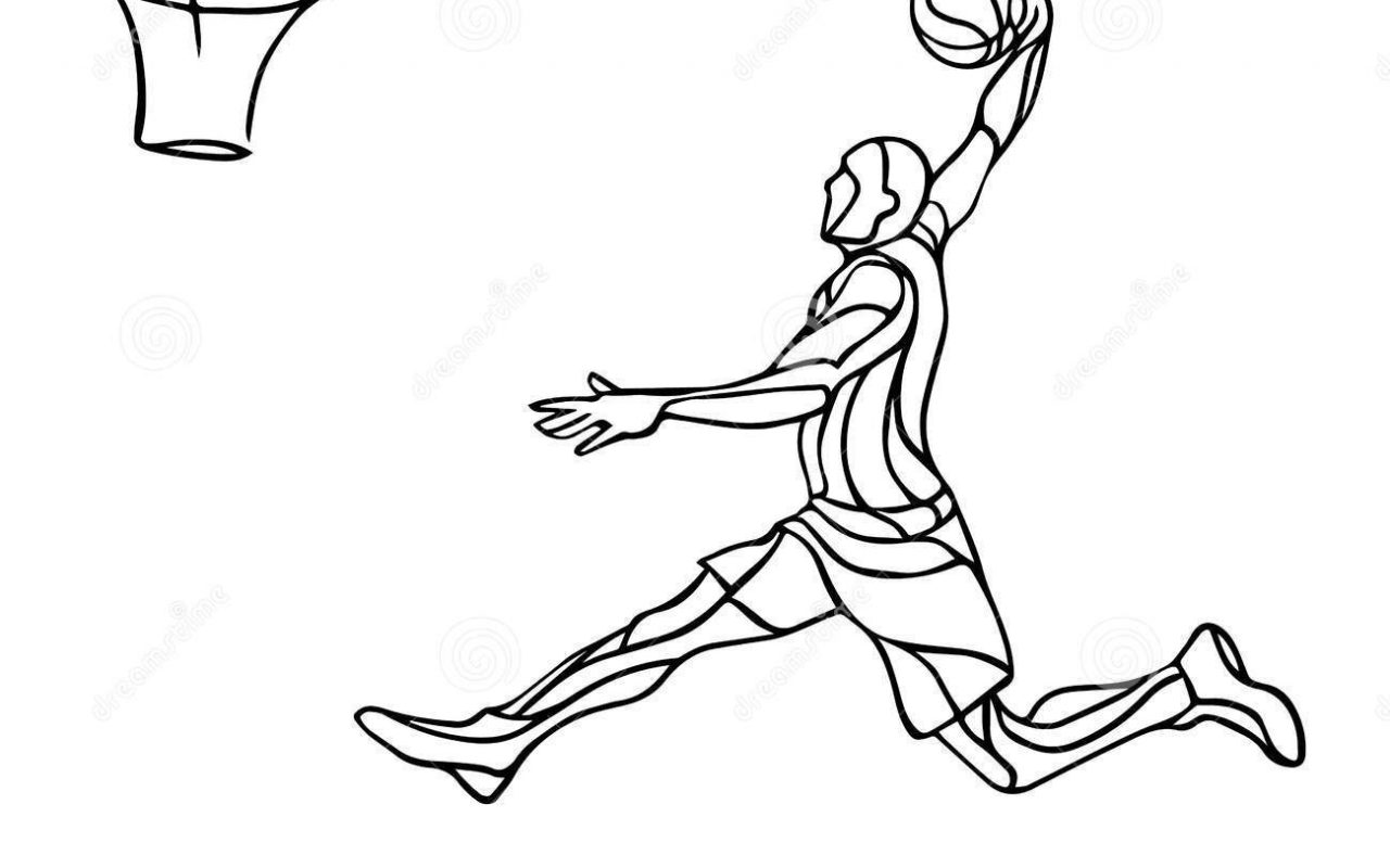 1280x800 Magnificent Slam Dunk Coloring Pages For Kids Slamdunk General