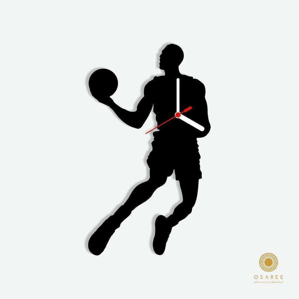 1000x1000 Michael Jordan Famous Footballer Silhouette Wall Clock Michael