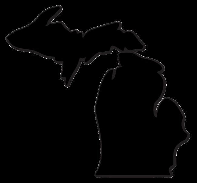 650x605 Michigan Die Cut Decal (Multiple Colors) Superior Design