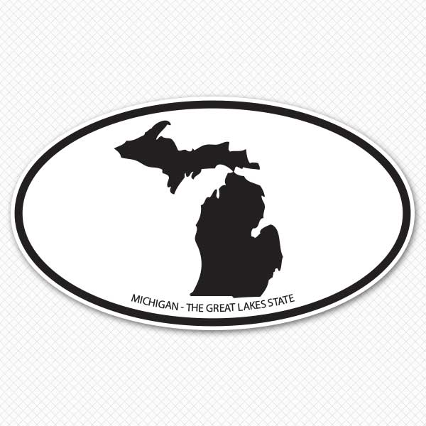 600x600 Michigan Silhouette Sticker Genius