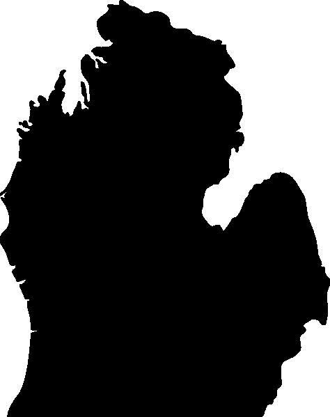 474x599 Michigan Silhouette Clip Art