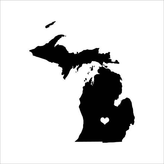 570x570 Michigan Decal State Stickers Big Wall Decals Michigan
