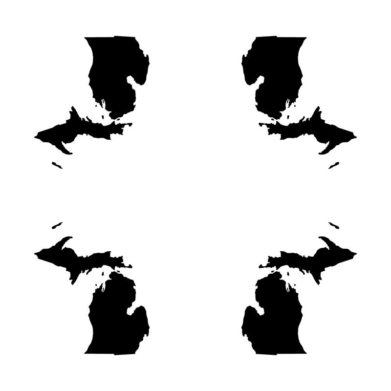 800x800 Michigan Silhouette