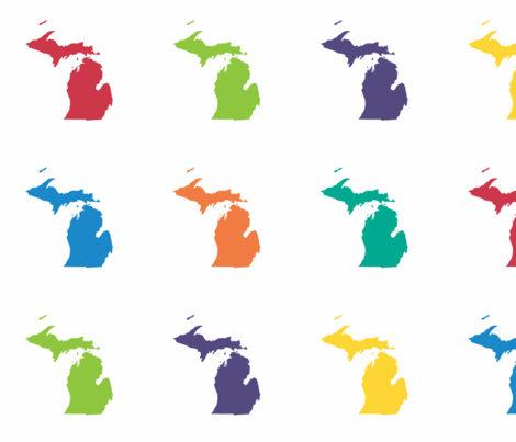 470x403 Michigan Silhouette