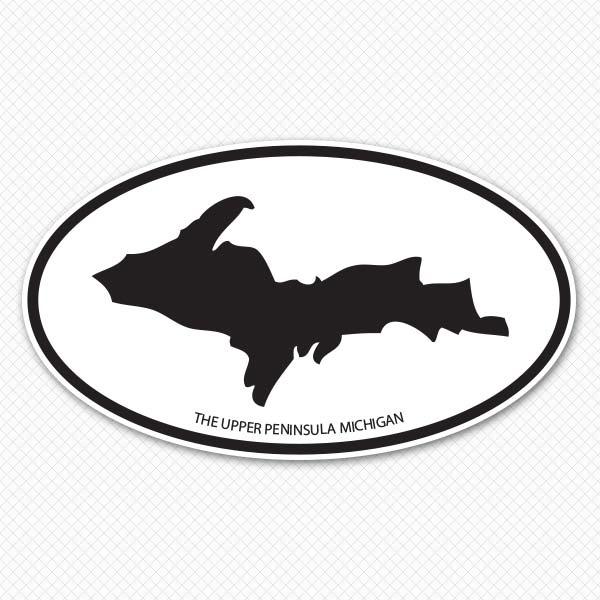 600x600 Upper Peninsula Silhouette Sticker Genius