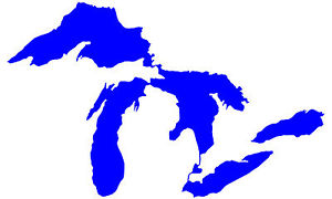 300x180 Great Lakes, Michigan Great Lakes Silhouette, Michigan Outline