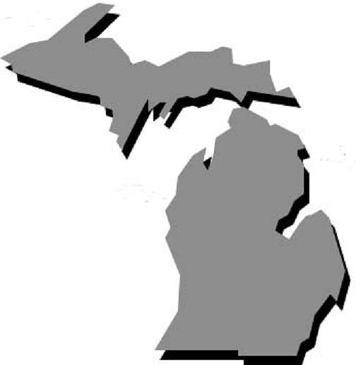 511x517 Michigan Clipart Michigan Outline