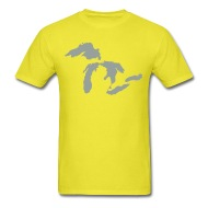 190x190 The Great Lakes Design Michigan Silhouette Vector By Bespoketech