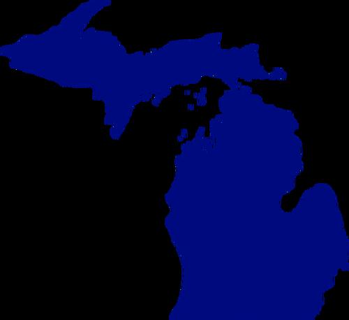 500x458 Vector Map Of State Of Michigan Public Domain Vectors