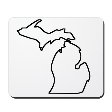 460x460 Michigan State Outline Mouse Pads