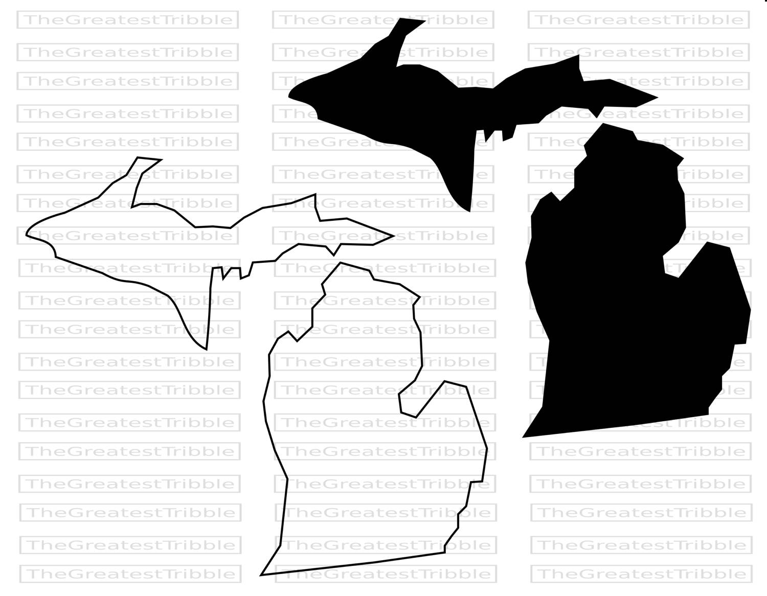 1500x1166 Michigan Clipart Outline Collection