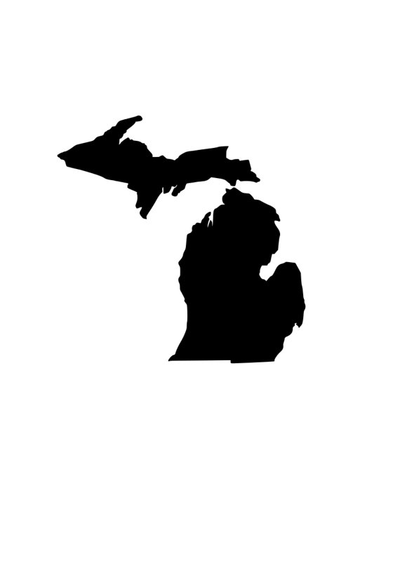 570x806 State Of Michigan Mi Outline Laptop Cup Decal Svg Digital
