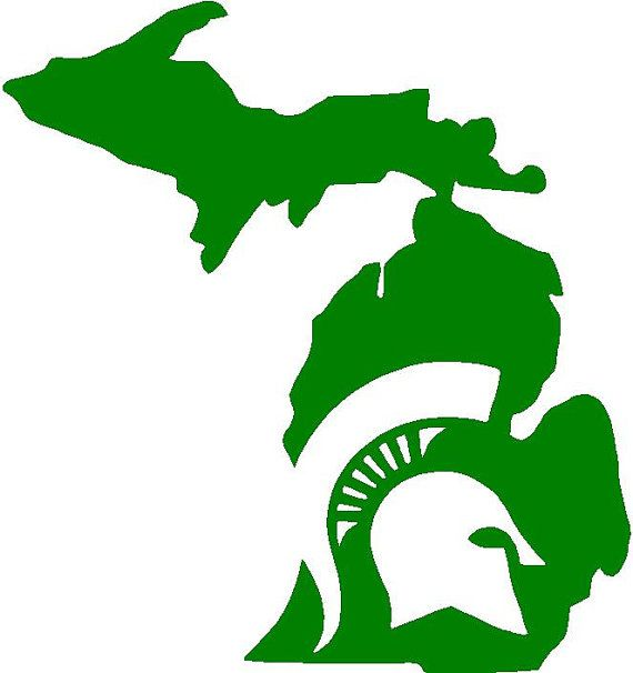 Michigan State Silhouette At Getdrawings Com Free For