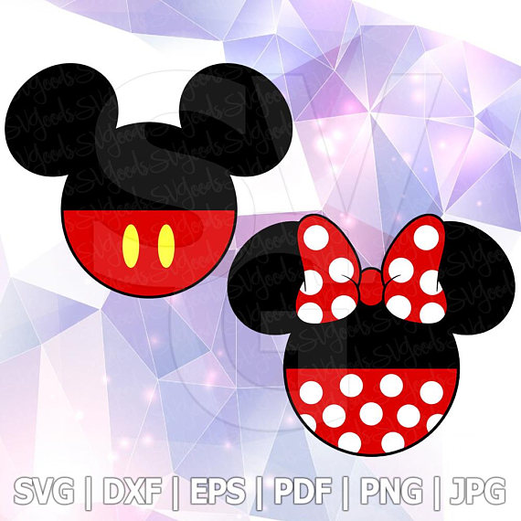570x570 Mickey Minnie Mouse Layered Svg Dxf Eps Vector Cuttable File