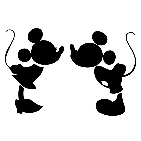 Mickey And Minnie Mouse Silhouette at GetDrawings.com | Free for ...