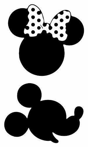 301x500 Cabeza De Minnie Mouse Y Mickey Mouse Negro Y Blanco Ideal Para
